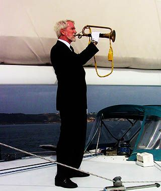 Bugler for a Burial at Sea Service