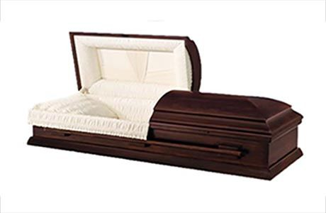 Some families choose to have their own upscale casket for viewing and cremation.